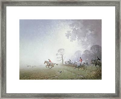 Hunting Scene Framed Print