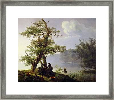 Hunting Waterfowl Framed Print by Thomas Fearnley