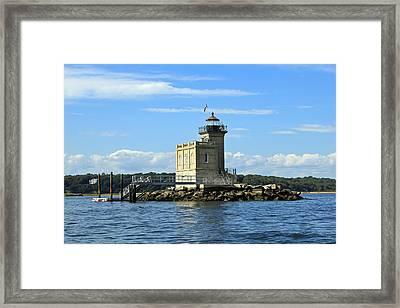 Huntington Lighthouse Framed Print