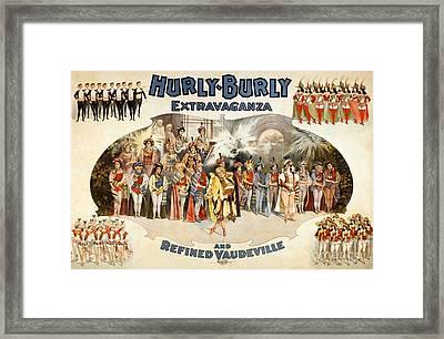 Hurly-burly Extravaganza Framed Print