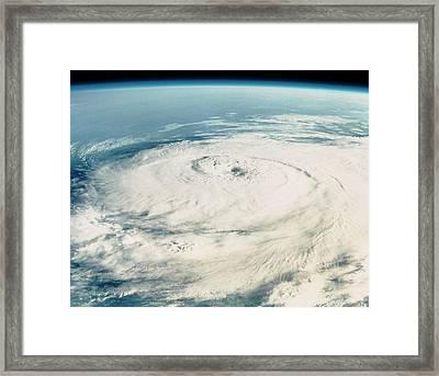 Hurricane Elena Framed Print by Nasa/science Photo Library