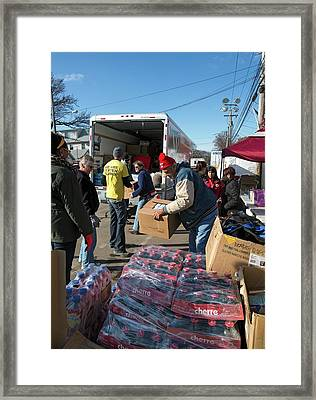 Hurricane Sandy Disaster Relief Framed Print
