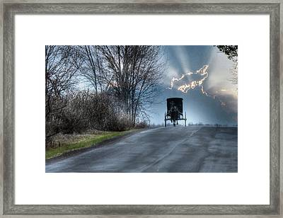 Hurry Home Framed Print by Lori Deiter