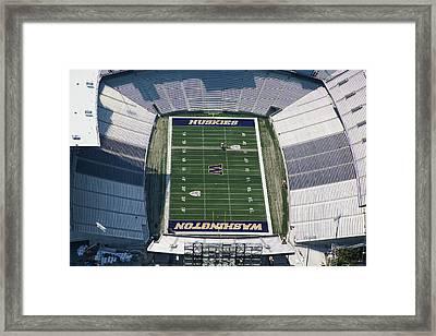 Husky Stadium At The University Framed Print by Andrew Buchanan/SLP