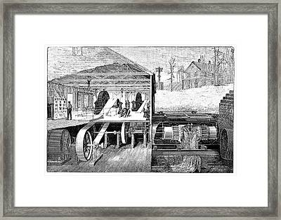 Hydroelectric Power Framed Print by Science Photo Library