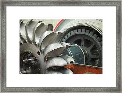 Hydroelectric Power Turbine Framed Print