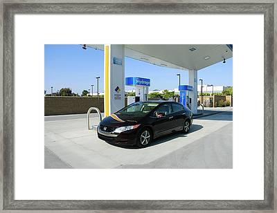 Hydrogen Fuelling Station Framed Print