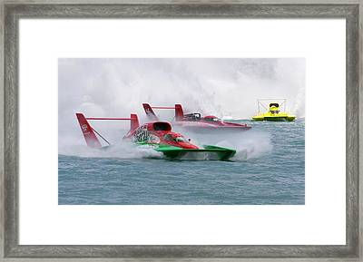 Hydroplane Racing Framed Print
