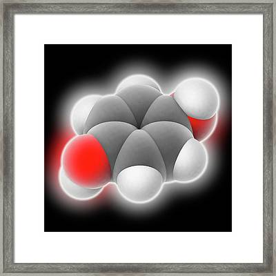 Hydroquinone Molecule Framed Print by Laguna Design