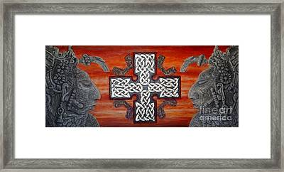 Hymn To The Unit Framed Print by Anna Maria Guarnieri