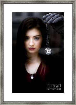 Hypnotised Woman Framed Print