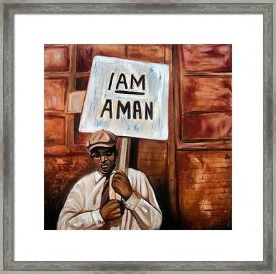 I Am A Man Framed Print by Emery Franklin