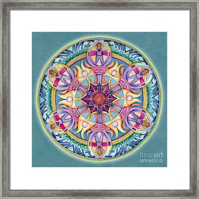 I Am Enough Mandala Framed Print by Jo Thomas Blaine