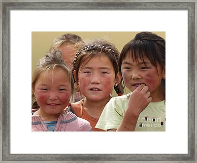 Framed Print featuring the digital art I Am From Mongolia by Angelika Drake