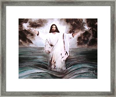 Framed Print featuring the painting I Am by Hazel Holland