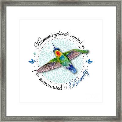 I Am Surrounded By Beauty Framed Print by Amy Kirkpatrick