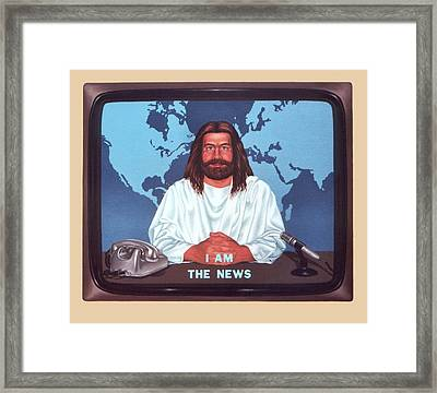 I Am The News Framed Print by Michael Di Nunzio