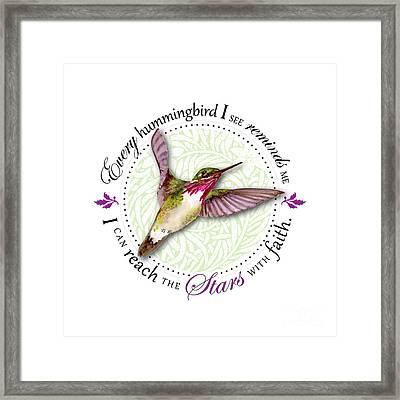 I Can Reach The Stars With Faith Framed Print