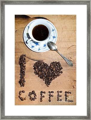 I Love Coffee Framed Print by Sarka Olehlova