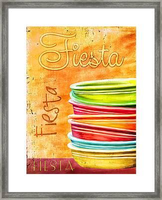 I Love Fiestaware Framed Print by Brenda Bryant