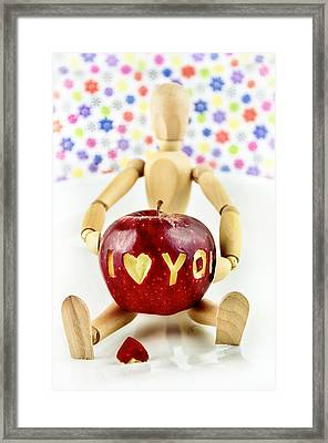 I Love You Framed Print by Gynt