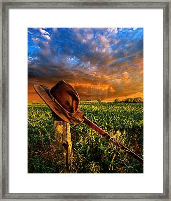 I Was Here Framed Print