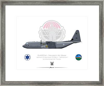 Isralei Air Force C-130j Shimshon Framed Print by Amos Dor