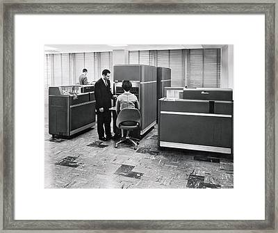 Ibm 650 Data Processing System Framed Print