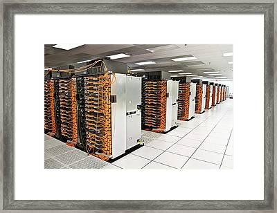 Ibm Sequoia Supercomputer Framed Print