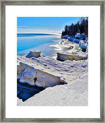 Ice-berg Door County Wisconsin Framed Print by Carol Toepke