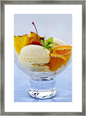 Ice Cream Framed Print by Elena Elisseeva