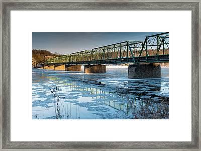 Ice Flow Framed Print by Scott Hafer