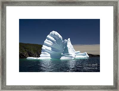 Framed Print featuring the photograph Iceberg by Liz Leyden