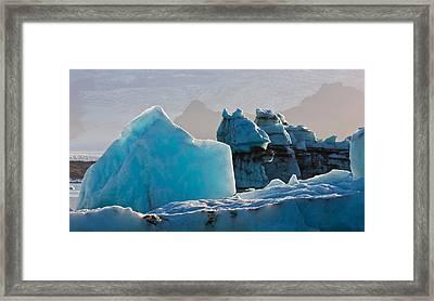 Icebergs At The Jokulsarlon Glacial Framed Print