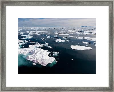 Icebergs, Hinlopen Strait, Spitsbergen Framed Print