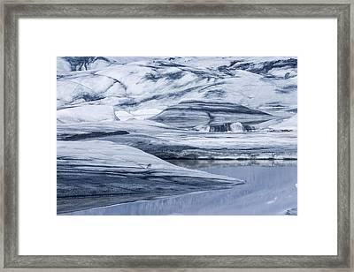 Icebergs, Hoffellsjokull Glacier Framed Print