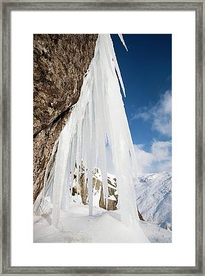 Icefall Framed Print by Ashley Cooper