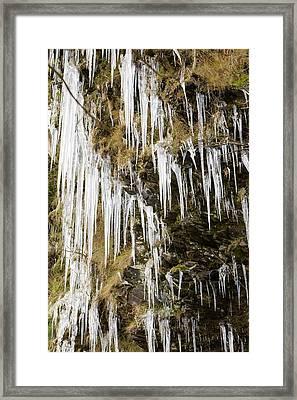 Icicles At Tilberthwaite Framed Print