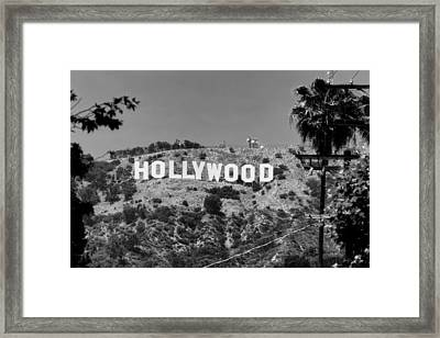 Iconic Hollywood Sign Framed Print by Mountain Dreams
