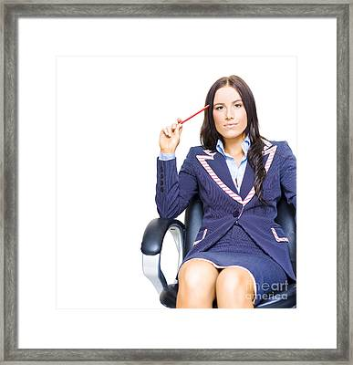 Ideas And Business Development Concept Framed Print by Jorgo Photography - Wall Art Gallery