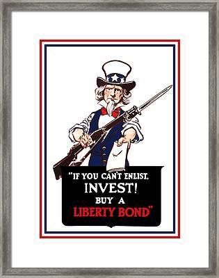 If You Cant Enlist Invest Framed Print