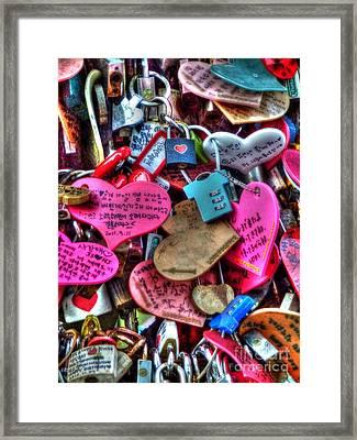 If You Love It Lock It  Framed Print by Michael Garyet