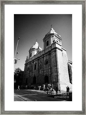 Iglesia De Santo Domingo Santiago Chile Framed Print by Joe Fox