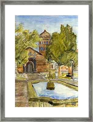 Iglesia En La Serena Framed Print by Greg Mason Burns