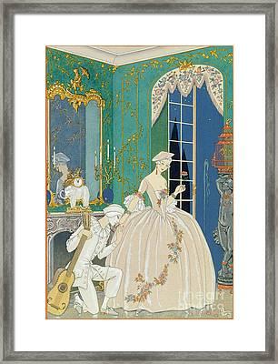 Illustration For 'fetes Galantes' Framed Print