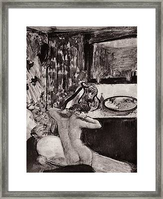 Illustration From La Maison Tellier By Guy De Maupassant  Framed Print by Edgar Degas