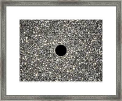 Illustration Of A Supermassive Black Framed Print