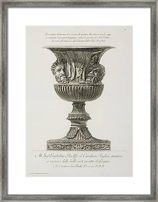 Illustration Of Classical Urn Framed Print by British Library