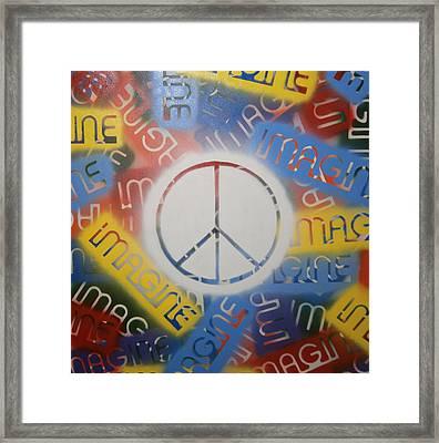 Imagine Peace Framed Print by Drew Shourd