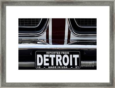 Imported From Detroit Framed Print by Dennis Hedberg